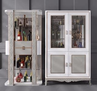 简欧酒柜3D模型【ID:920791064】