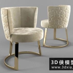 现代时尚椅子国外3D模型【ID:729580829】