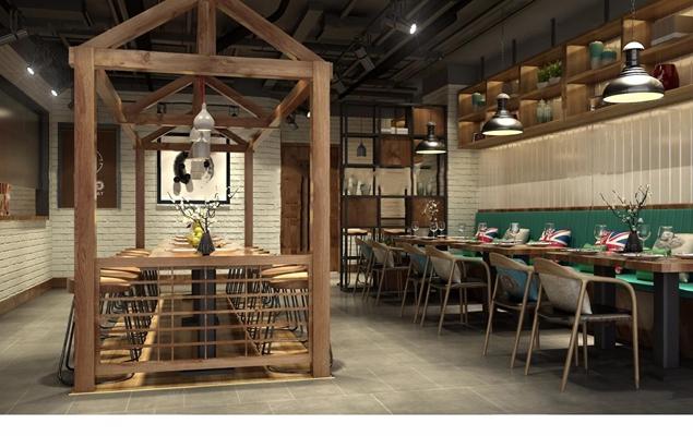 新中式快餐店3D模型【ID:328020954】