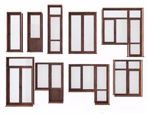 窗户窗框组合3D模型【ID:728303640】