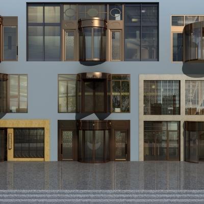 現代酒店旋轉門3D模型【ID:727813528】