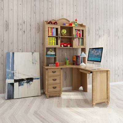 美式电脑桌3D模型【ID:920605332】