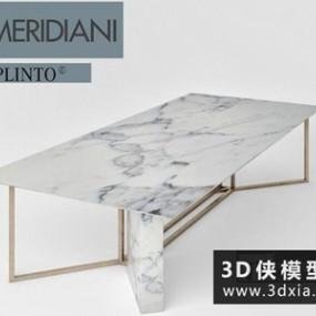现代餐桌国外3D模型【ID:729672729】