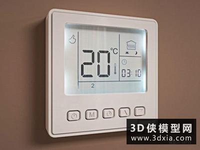 空调开关国外3D模型【ID:129571736】