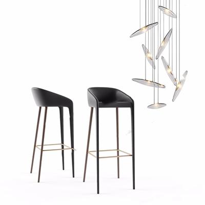 北歐吧椅吊燈3D模型【ID:328241162】