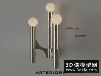 現代壁燈國外3D模型【ID:829655810】