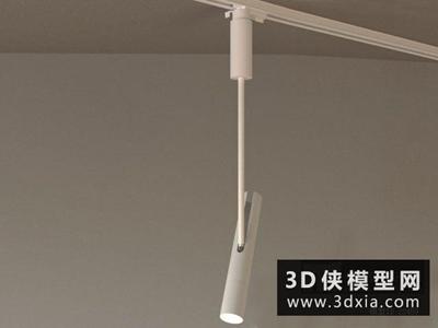 軌道射燈國外3D模型【ID:929422116】