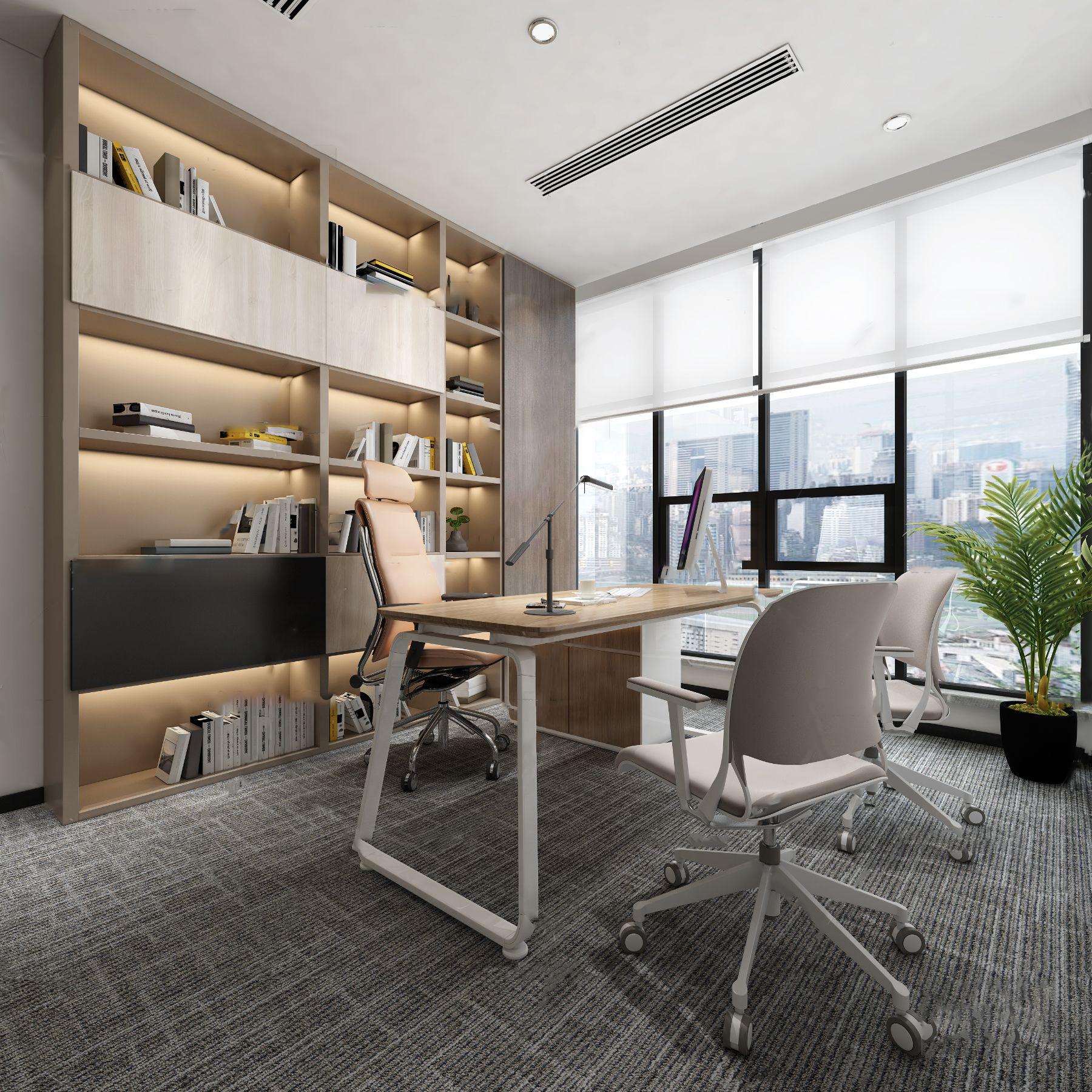 现代总经理办公室3D模型【ID:943427023】