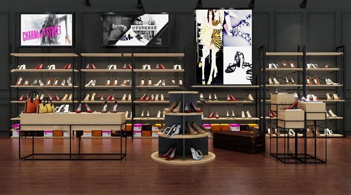 现代鞋架3D模型【ID:324883578】