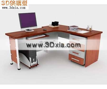 品质细致的3D电脑桌模型3D模型【ID:8024】