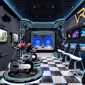 现代VR体验馆3D模型【ID:427976691】
