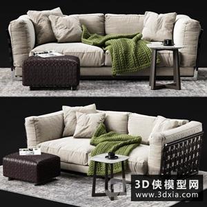 现代沙发组合3国外D模型下载3D模型【ID:729326680】