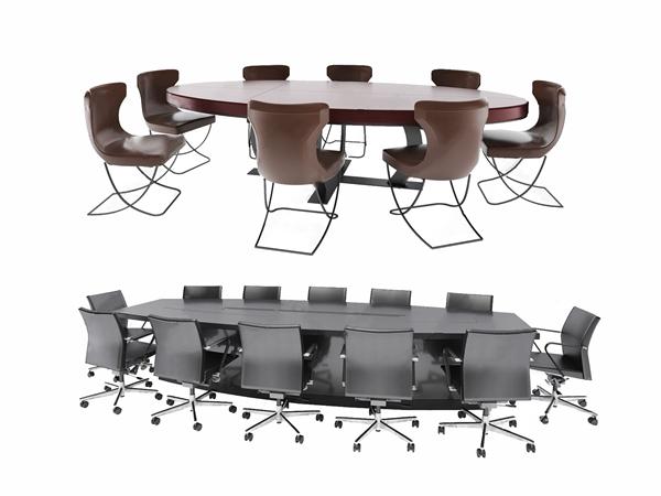 現代會議桌椅3D模型【ID:946260164】