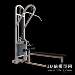 健身器材國外3D模型【ID:129845881】