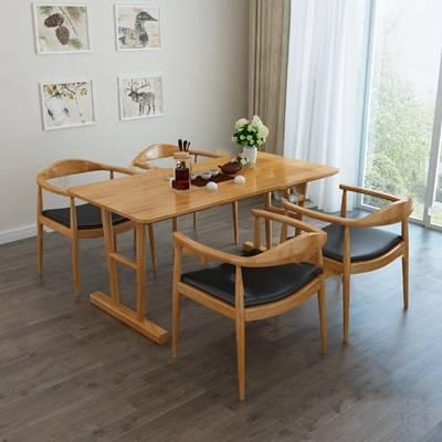 北欧桌椅组合3D模型下载【ID:319453441】