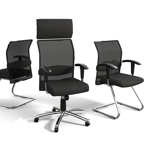 現代布藝透氣辦公椅3D模型【ID:746659419】