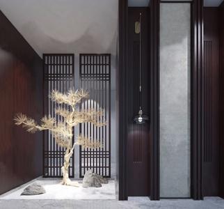 新中式景觀3D模型【ID:328254810】