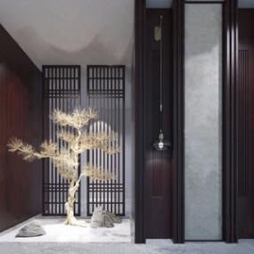 新中式景观3D模型【ID:328254810】