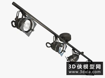 軌道射燈國外3D模型【ID:929411178】