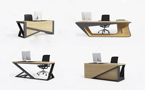 现代办公桌写字台3D模型【ID:220832490】