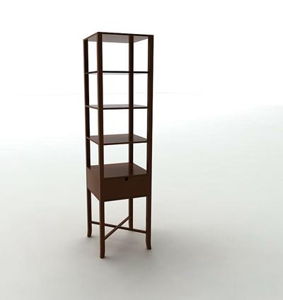 原木色木艺置物架3D模型【ID:814950943】