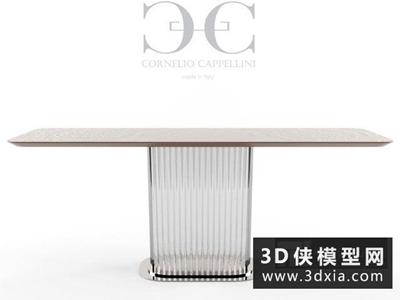 现代餐桌国外3D模型【ID:729596777】