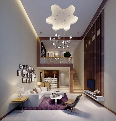 现代loft客厅3D模型【ID:815100007】