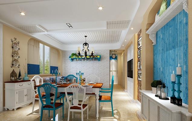 地中海家居餐厅3D模型【ID:815200572】