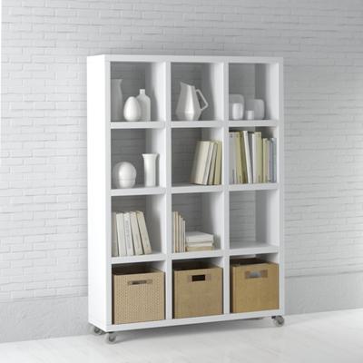 白色木艺置物架3D模型【ID:815235953】