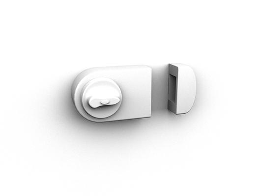 银色铁艺门锁3D模型【ID:815334414】
