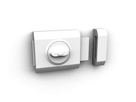 银色铁艺门锁3D模型【ID:815334420】