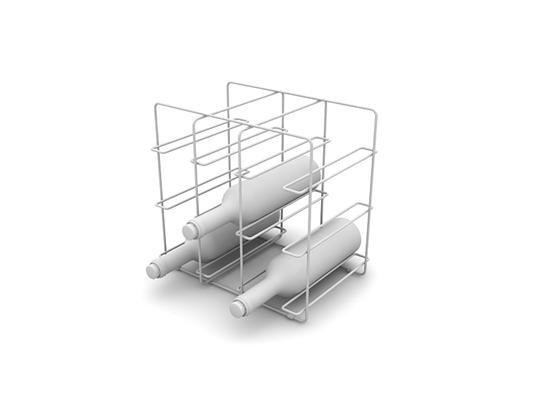 白模酒架3D模型【ID:815352880】