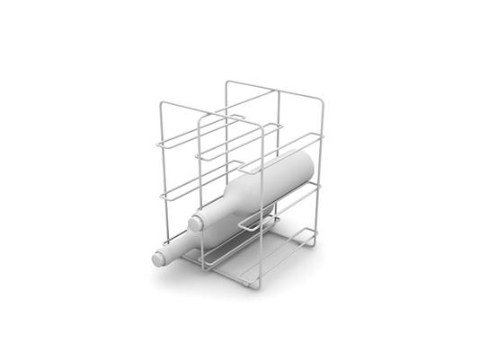 白模酒架3D模型【ID:815355888】