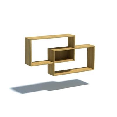 木艺置物架3D模型【ID:815413979】