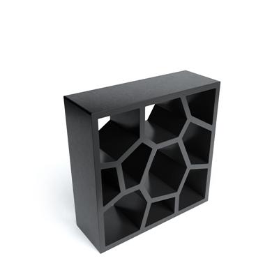 黑色木艺置物架3D模型【ID:815433975】