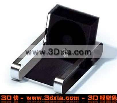 时尚简洁的黑色3DCD架子模型