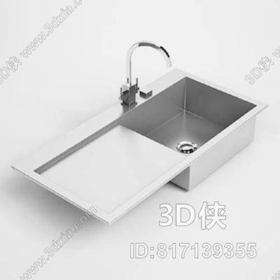 洗水槽33D模型【ID:817139355】