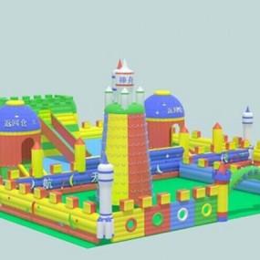 儿童器材组合33D模型【ID:817186057】