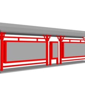 公交站台33D模型【ID:817226961】