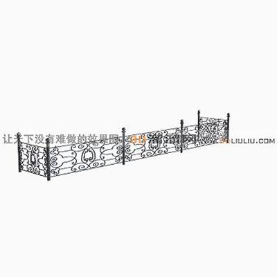 铁艺栏杆13D模型【ID:817258998】