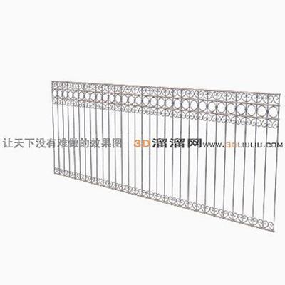 铁艺栏杆33D模型【ID:817258999】
