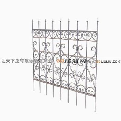 铁艺栏杆43D模型【ID:817259902】