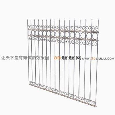 铁艺栏杆53D模型【ID:817259903】