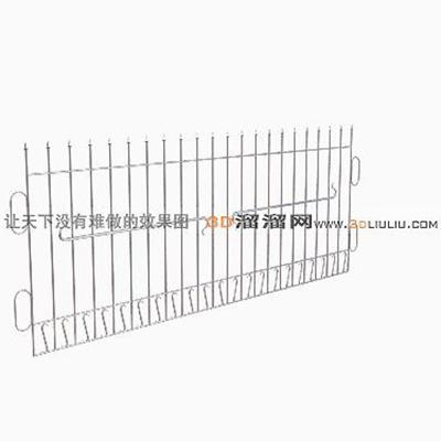 铁艺栏杆63D模型【ID:817259906】
