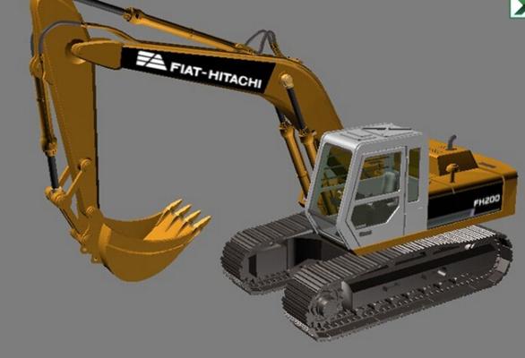 挖掘机13D模型【ID:817344818】