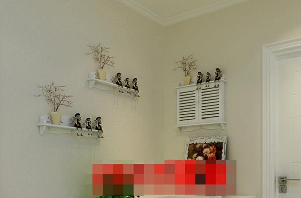 白色木艺置物架3D模型【ID:817470916】