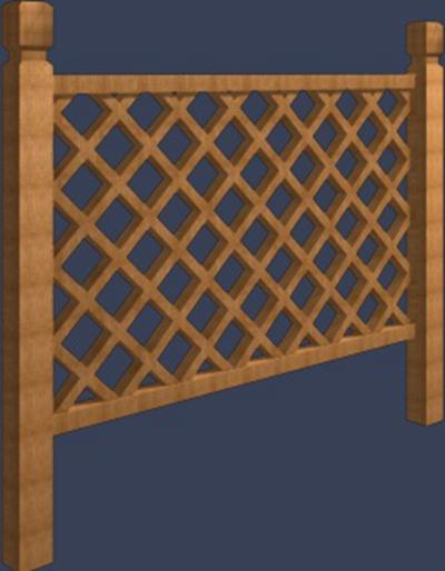 栏杆173D模型【ID:817525586】