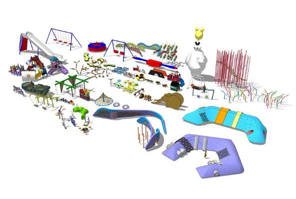 儿童娱乐设施组合SU模型【ID:147338938】