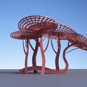 现代城市雕塑3D模型【ID:326235805】