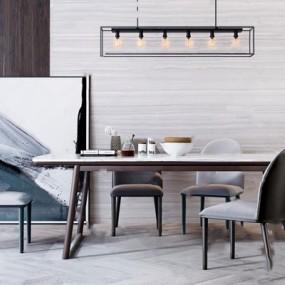 现代轻奢风格餐桌椅3D模型【ID:328251660】